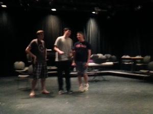 Dan, Colin and John sang 'In the Jungle'.
